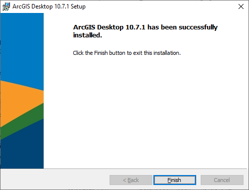 Screenshot ArcGis Installation beendet