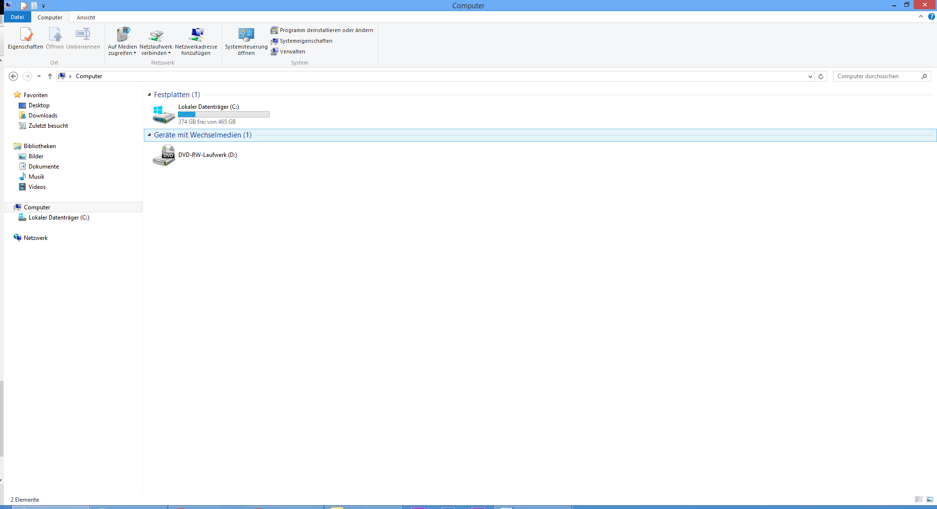 Screenshot Win8 Windows Explorer