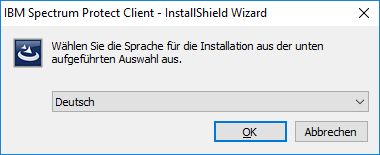 Screenshot Windows Sprache auswählen
