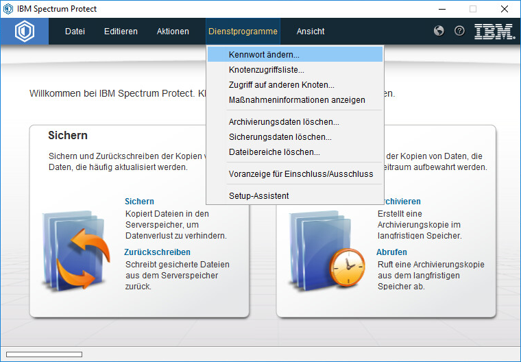 Screenshot Windows Passwort ändern
