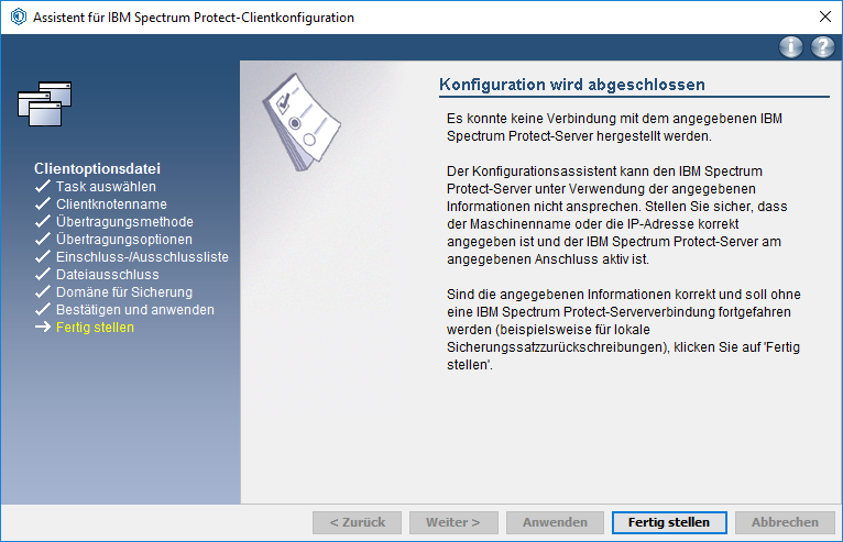 Screenshot Windows Fertig stellen